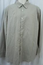 John AShford Mens Casual Shirt Sz XL Delhi Khaki Long Sleeve Cotton Blend Shirt