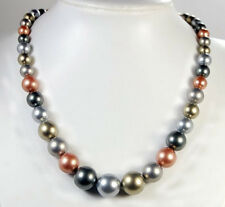 """8-16mm Multi-Color Shell Pearl Necklace 18-20"""""""