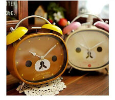 San-X Rilakkuma Relax Brown / Beige Bear Alarm Clock Anime Decoration Gift