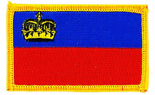 FLAG PATCH PATCHES Liechtenstein  IRON ON COUNTRY EMBROIDERED WORLD SMALL