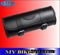 New Black Leather Motorcycle Motorbike Universal Tool Roll Saddle Bag AC-12