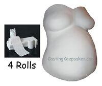ECONOMY BELLY CAST KIT Plaster of Paris Bandage CLOTH ROLLS Pregnancy Casting