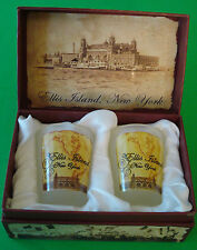ELLIS ISLAND VINTAGE TWO PIECE SHOT GLASS SET FROM THE MUSEUM STORE