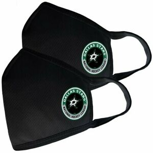 Dallas Stars NHL Team Logo Two Pack Face Covers with Filter
