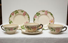 Franciscan Desert Rose Cups and Plates, Set of 6 Vintage Pieces