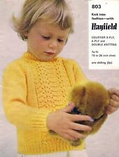 Hayfield Girls Sweaters/Clothes Sweaters Patterns