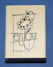 Stampendous 'Enjoy Word'  Rubber Stamp