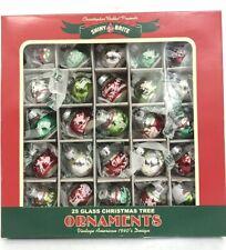 "Christopher Radko Holiday Splendor Signature Flocked Mini Ornaments 1"" 25ct"