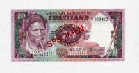 Swaziland Specimen 20 Emalangeni 1978 UNC