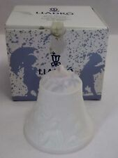 Lladro 1997 Christmas Bell Ornament #16441 Campana Navidad Ribbon Box Bisque
