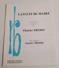 Partition sheet music CHARLES TRENET : La Flûte du Maire * 80's