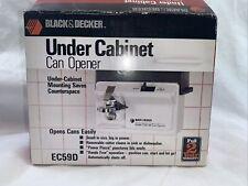 New Opened Vintage Black & Decker Under Cabinet Can Opener Ec59D