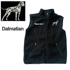 Dalmatian Dog Fleece Vest with Zippers Personal Name Stitched Monogrammed