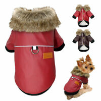 Small Dog Coats Warm Fur Coat Puppy Chihuahua Clothes Waterproof Jackets S-XXL