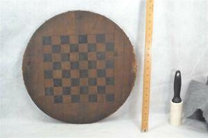 antique game board checker chess round primitive paint date June 1888 original