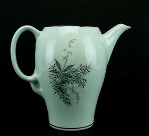 Lady Empire Dinnerware Permacal Coffee Tea Pot NO LID Lily of the Valley Green