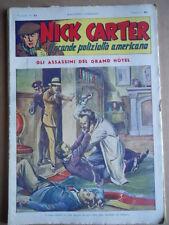 Nick Carter Il Grande poliziotto americano Anni 40 n°24 ed. NERBINI  [G369]