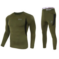 Men Thermal Underwear Set Quick Dry Tight Sweat Absorption Top Pants Base Layer