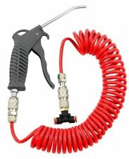 HEAVY DUTY AIR DUSTER BLOW GUN TRUCK LORRY VAN COILED HOSE COMPRESSOR CLEANING