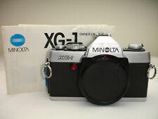 Minolta XG1 35mm SLR Film Camera Body with manual Only   XG-1  sn1306507