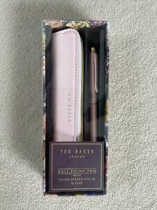 ted baker ball point pen with touch screen stylus and case