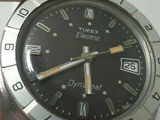 Vintage 1970s TIMEX © Dynabeat © Rotating Bezel Diver Watch w/ TWO Bands
