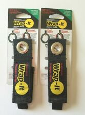 (2) (Medium) Wrap-It Heavy Duty Storage Straps to Hang Items on Hooks & Pegboard