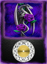 Dragon and Rose  Love Wall Clock  Makes Great Gifts