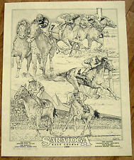 Rare 1998 Lim Ed S/N Saratoga Racing Race Track Season Race Horse Art