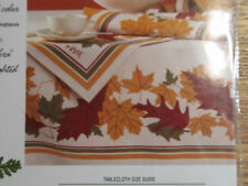 NEW VERA TURNING LEAF 60 x 84 OBLONG TABLECLOTH