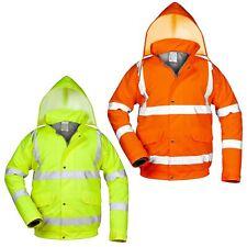 Warnschutzjacke Arbeitsjacke Winterjacke Warnjacke Regenjacke gefüttert Gr.S-3XL
