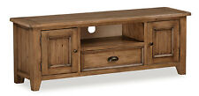 Feock Pine Large TV Stand / Reclaimed Pine Large TV Unit / Two Door TV Cabinet