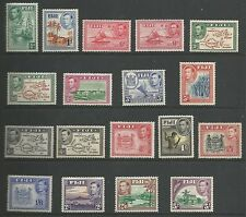 FIGI  THE 1938-55 GVI  SET TO 5/- MOUNTED MINT INC BOTH DIES OF 1.5d & 6d C.£182