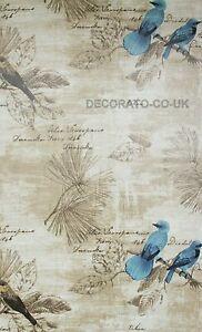 Birds Sticky Back Plastic Furniture Sticker Self Adhesive Wallpaper Fablon Linen