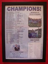 Burnley FC Championship champions 2016 - framed print