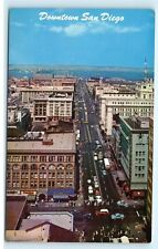 *Downtown San Diego California Ca Baranov's Jewelry Store Vintage Postcard A8