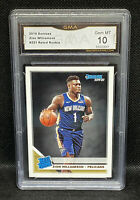🔥2019-20 Donruss Rated Rookie Base Zion Williamson #201  RC - Pelicans GMA 10