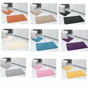 Velosso Non Slip  2 Piece Bath Mat Pedestal Mat Greek Key Colours
