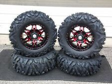 "POLARIS RZR 900 900XC  27"" QUADKING 14"" HD7 RED ATV TIRE & WHEEL KIT  POL10K"
