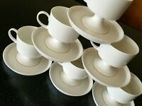 12 pc JAHRE  ROSENTHAL STUDIO LINE WHITE COFFEE CUPS  GERMANY MID CENTURY MODERN