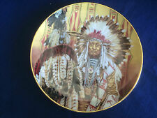 """Franklin Mint """"Chief Of The Piegon Blackfoot"""" US Indian plate"""