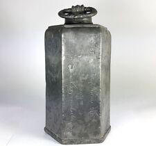 Zinn- Flasche/ Feldflasche mit Spruch, um 1704 AL801