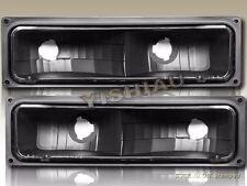 88-98 CHEVY / GMC C10 FULL SIZE BLACK BUMPER LIGHTS PARKING SIGNAL LAMPS