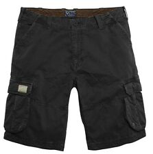 "Replika Jeans Cargo Shorts/Black - 40"" WAS £55.00"