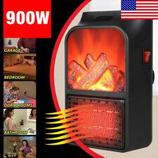 New 900W Mini Black Ceramic Electric Heater Home Office Heating Fan Small&Quiet