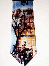 Mort Kunstler Tie Little Old New York 1800's Art Silk Necktie
