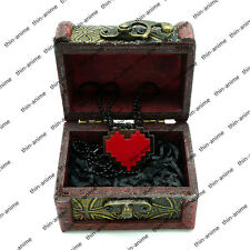 Game Undertale Firstk LOVE Red Heart Necklace Pendant Cosplay Gift +Display BOX