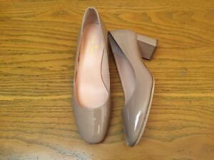 KATE SPADE NEW YORK SERENE PATENT LEATHER PUMPS HEELED NUDE SHOES NWB SIZE 9.5