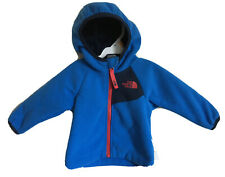 New The North Face Baby Boy 3-6M Fleece Hooded Blue Zipup Jacket,Sherpa Lining