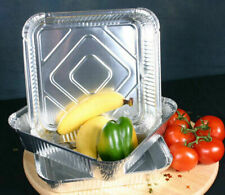 50 x 9X9X2 LARGE Aluminium Foil Containers + Lids (PACK OF 50)